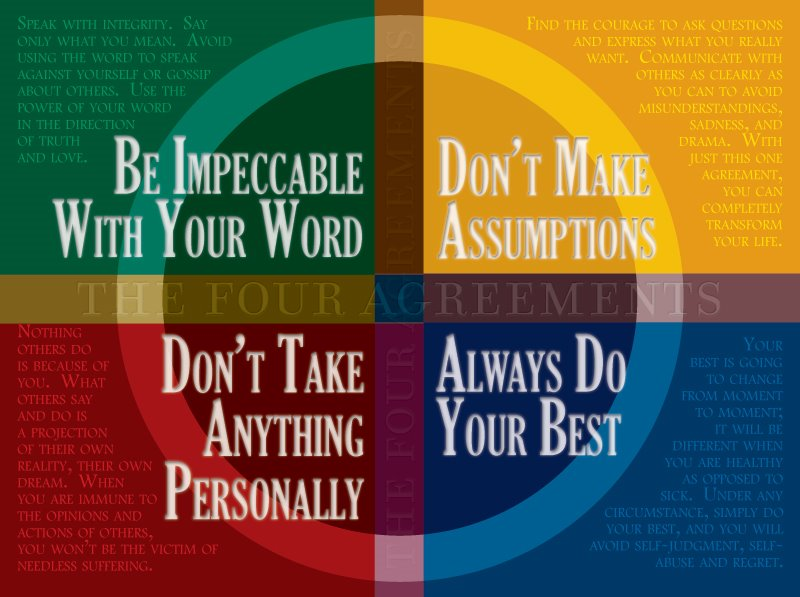 The Four Agreements By Don Miguel Ruiz Michael Dill Action Coach