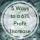 Five ways to a 61% Profit Increase
